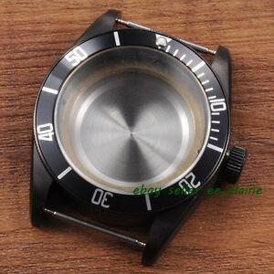 41mm-Black-PVD-Watch-Case-Black-Bezel-Sapphire-Glass-Fit-ETA-2824-2836-Movement