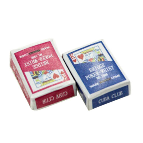 Mini Playing Cards 1:12 Dollhouse Miniature Ornament Creative Toy Poker cards ho