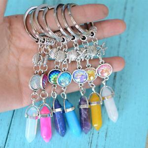 Image is loading Shellfish-Starfish-Scales-Stone-Fashion-Keychain-Keyring -Pendant- c6e48091c86e