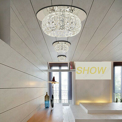3W Ceiling Light Crystal Lamp Fixture Stainless steel Living Room Shop Aisle Bar