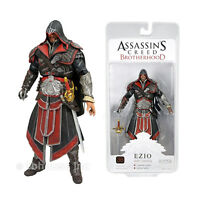 7 Hooded Ezio Black Ebony Legendary Figure Assassin's Creed 2 Brotherhood Neca