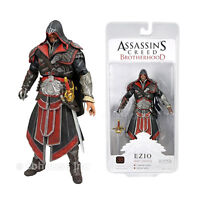 7 Hooded Ezio Black Ebony Legendary Figure Assassin's Creed 2 Brotherhood Neca