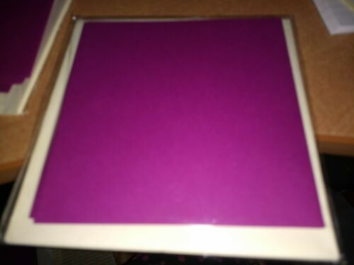 4X DOUBLE  CARDS FOR MAKE CRAFTS ETC 12,5X12,5 1 CM NEW DC141 PURPLE