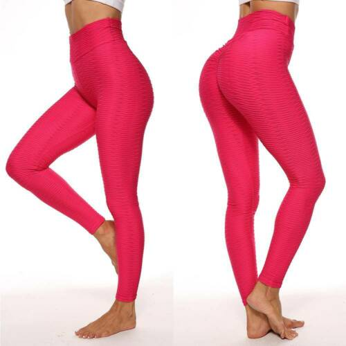 Women Scrunch Anti Cellulite Butt Lift Leggings Booty Yoga Pants Gym Trousers US