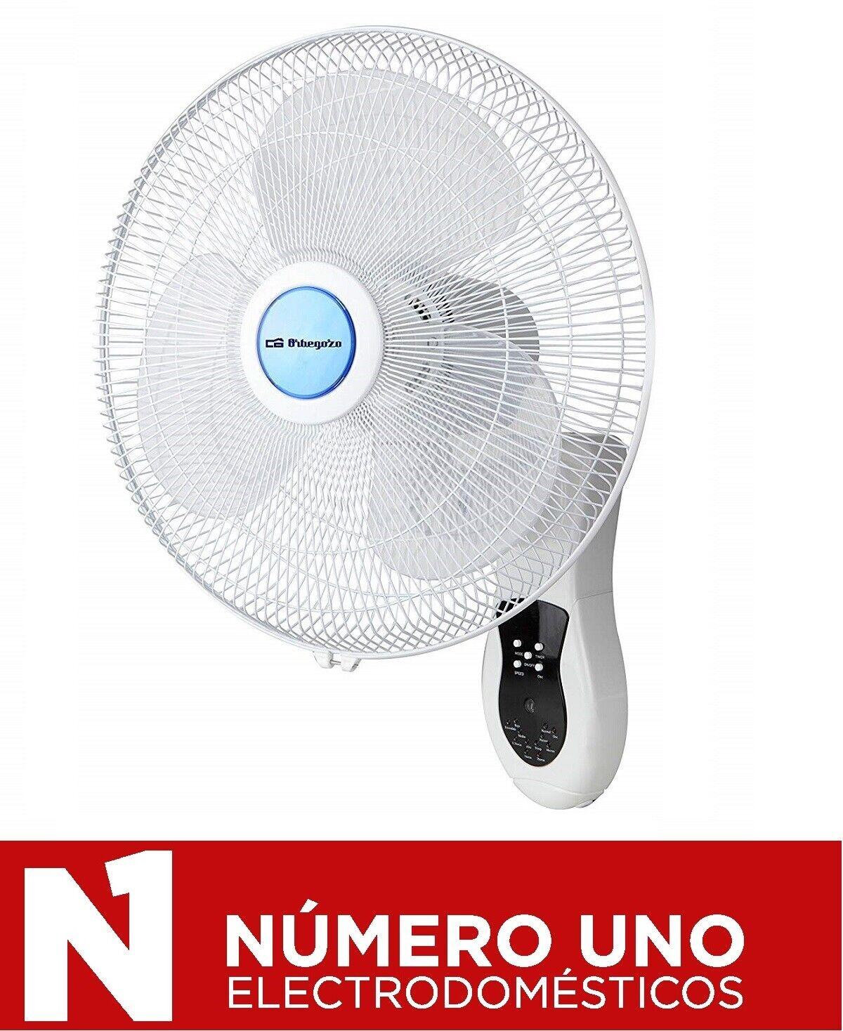 Ventilador De Pared Orbegozo Wf 0141 40w Aspas 40cm 3
