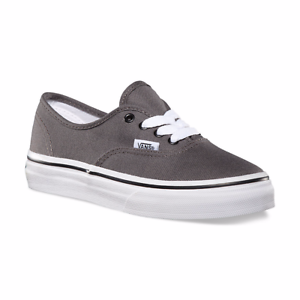 0a04dab726 KIDS VANS OFF THE WALL  Authentic  Low Top Canvas Shoes Pewter Black ...