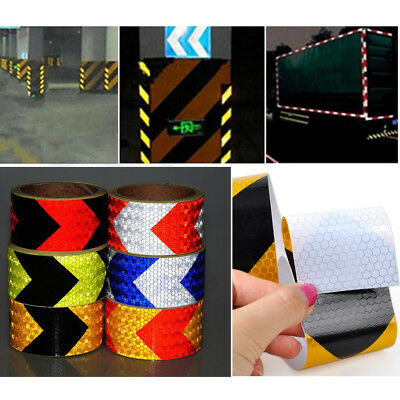 1X Car Night Reflective Safety Warning Conspicuity Tape Strip Arrow Roll Sticker