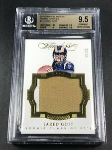 JARED-GOFF-2016-PANINI-FLAWLESS-14-GOLD-PATCH-ROOKIE-RC-25-BGS-9-5-RAMS-nfl