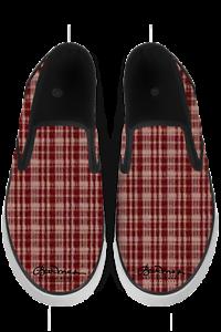 Maroon Black Slip On Sneakers