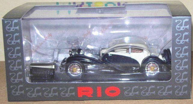 RIO 4257 Voiture Miniature BUGATTI T50 T 50 Blanc et Noir 1 43 neuf Pas cher
