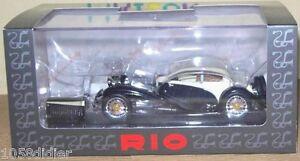 RIO-4257-Coche-Miniatura-BUGATTI-T50-T-50-blanco-y-negro-1-43-nuevo