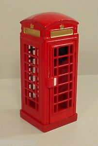 telephone booth euro style miniature g scale 1 32 scale diorama accessory item ebay. Black Bedroom Furniture Sets. Home Design Ideas