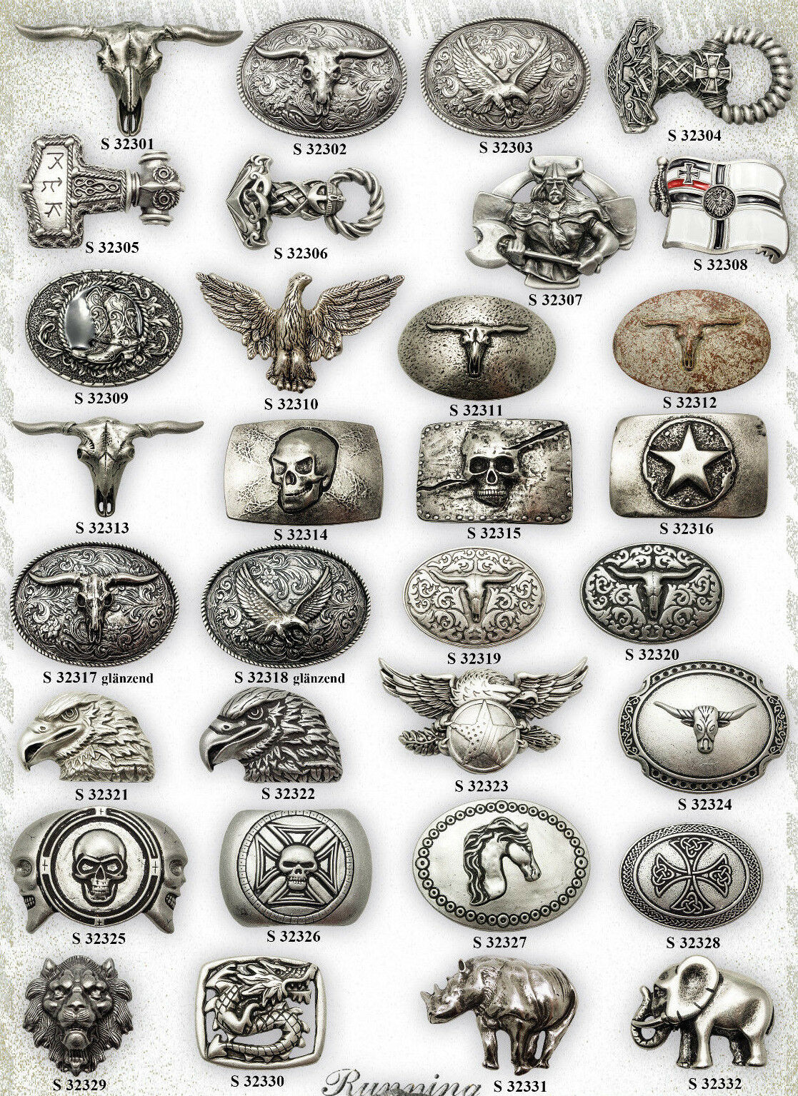Belt Buckle After Choice Western Viking Thor Gothic Biker Country Eagle