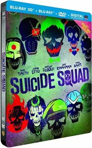 SUICIDE-SQUAD-Steelbook-Blu-Ray-3D-2D-DVD-DIGITAL-HD-NEUF-SOUS-BLISTER