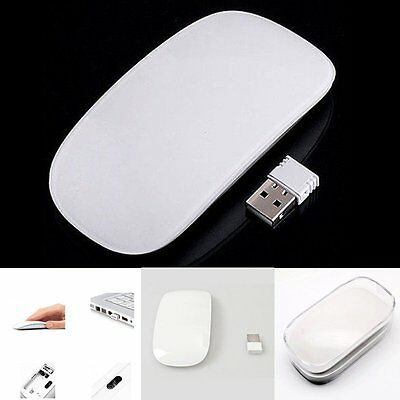 2.4Ghz Wireless Slim Clever Optical Magic Mouse Mice For PC Desktop Mac