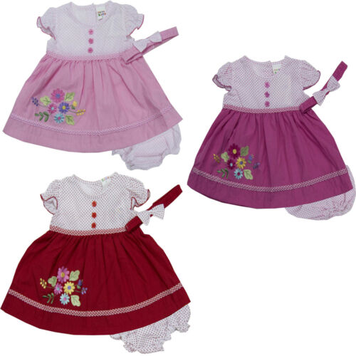 new newborn infant baby girl dress headband clothing outfit size 3 6 9 months