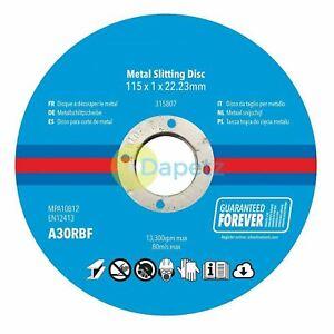 Metal-Fente-Disques-10Pk-pour-Couper-Ferrous-amp-Nonferrous-Metaux-115x-1x-22-23mm