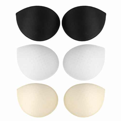 Pair Women Thick Sponge Push Up Breast Bra Nipple Cover Inserts Pads Replacement