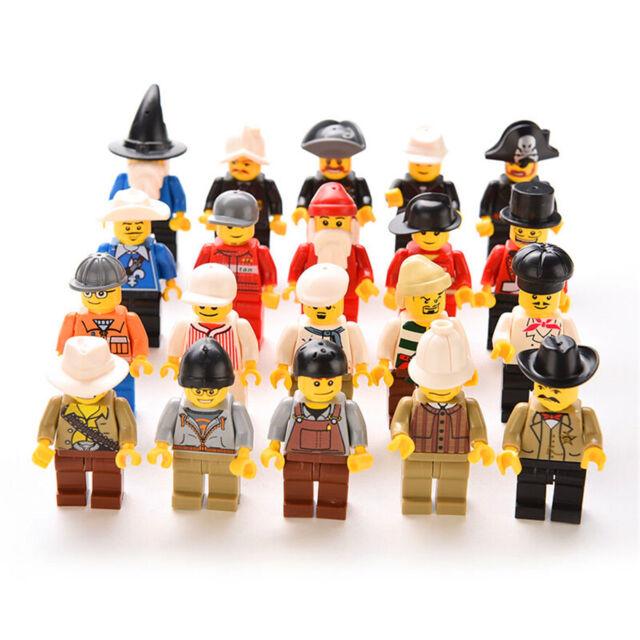 20pc NEW LEGO MINIFIG PEOPLE LOT Minifigure City Town Set Mini Figure Kids Toy