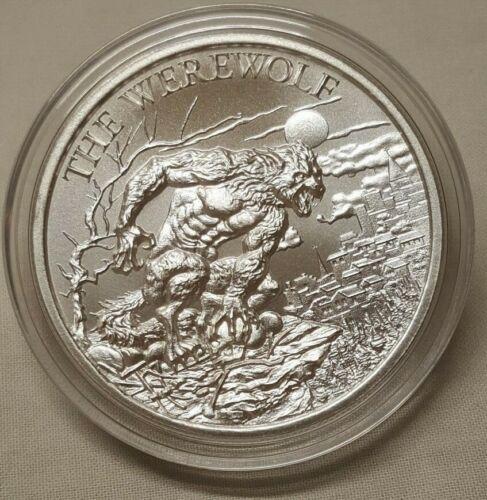 1oz The Werewolf .999 Fine Silver Round Coin Lycan Wolf Man European Folklore