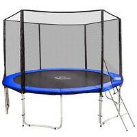 Outdoor Trampoline Complete Safety Net Enclosure Padding Ladder 427c 14ft Tüv Gs