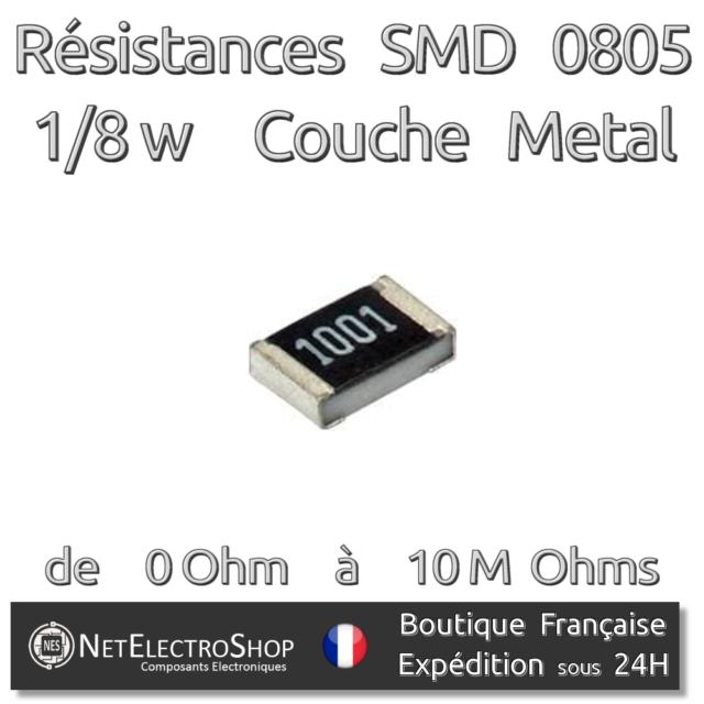 Résistances 620k Ohms Lot de 20 620kR Couche Métal 1//4W 1/% 50 ou 100pcs