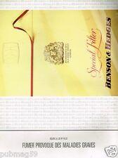 Publicité advertising 1991 Les Cigarettes Benson & Hedges