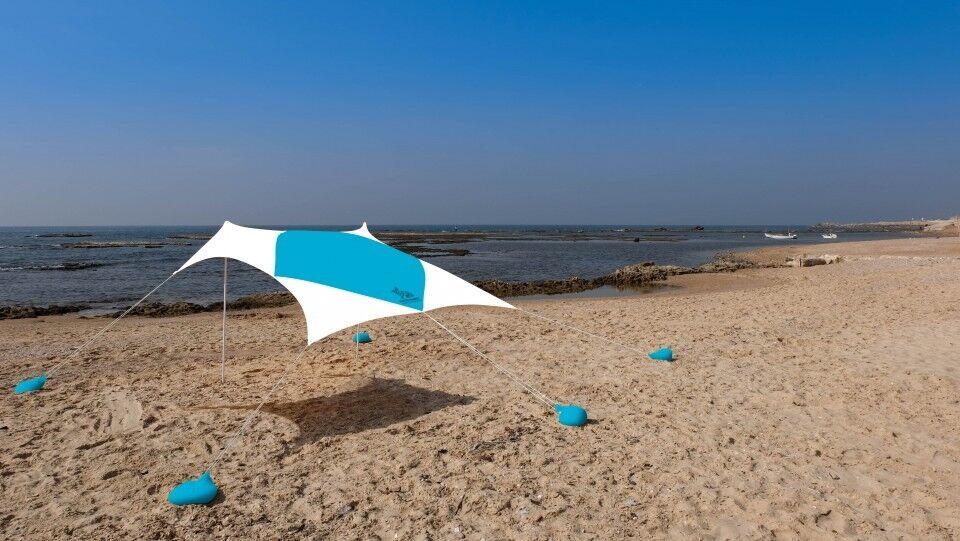 gree Beach Sun Shade 2.1m x 2.1m Canopy For 4 persone bianca Rabbit Art Studio