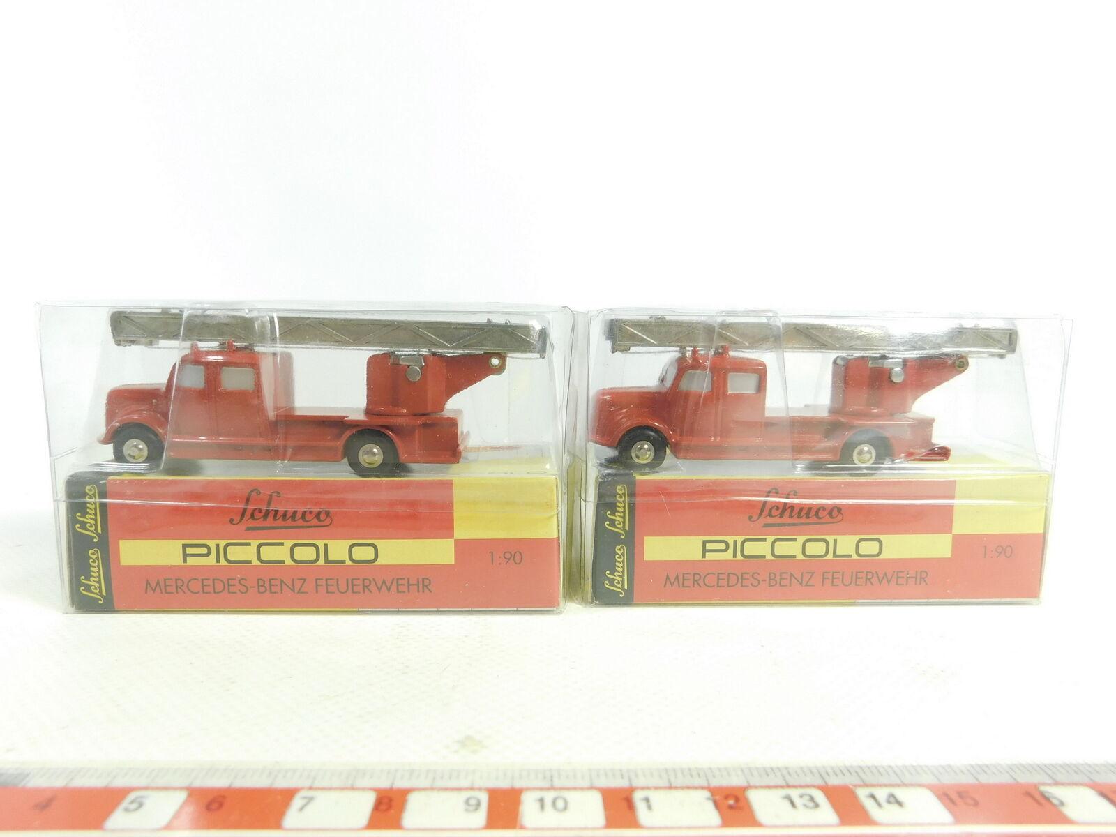Bd270-1 x Schuco Piccolo 1 90 01451 Mercedes-Benz   MB Fire Brigade FW, NIP