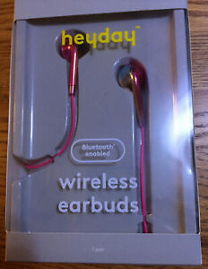 Details about heyday Bluetooth Earbuds - Pizzazz Pink