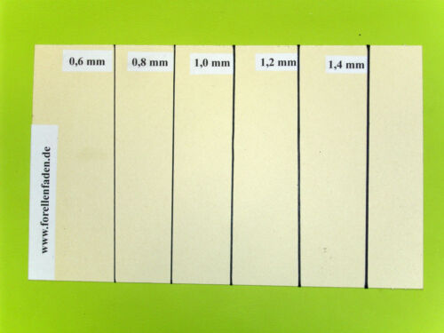 Forellenfaden Stärke 1,2mm Handnähgarn 100 m gewachst 8 Farben Sattlergarn