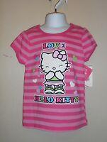 Hello Kitty By Sanrio Girls Short Sleeve Graphic love T-shirt Pink Six (6)