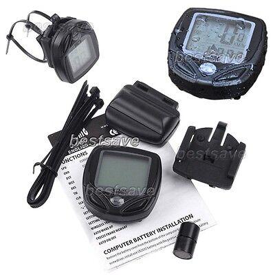 Waterproof Bike Bicycle Cycling Wireless LCD Computer Odometer Speedometer B0240