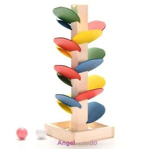 Kids-Baby-Toy-Wooden-Stacking-Ring-Tower-Educational-Toys-Rainbow-Stack-Up-Play