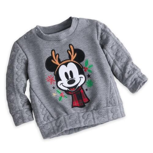 DISNEY STORE Mickey Mouse bébé mignon pull hiver garçon taille 0 3 6 mois NEUF