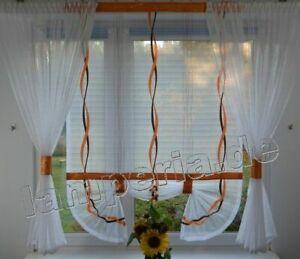 Moderne Gardinen Wohnzimmer Fensterdekoration Orange Fenster ...