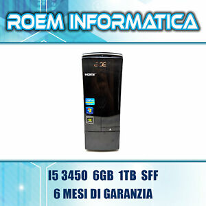 ACER ASPIRE X3995 I5 3450 6 GB 1 TB SFF WIN 10 GT630 GRADO A- 6 MESI DI GARANZIA