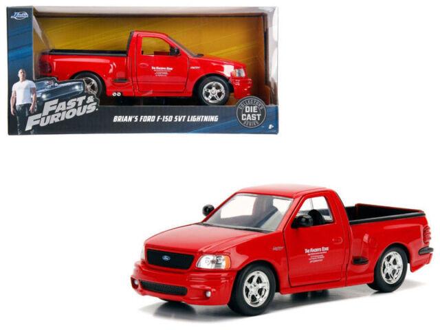 Brian S Ford F 150 Svt Lightning Pickup Truck Red Fast Furious 1 24 Jada 99574