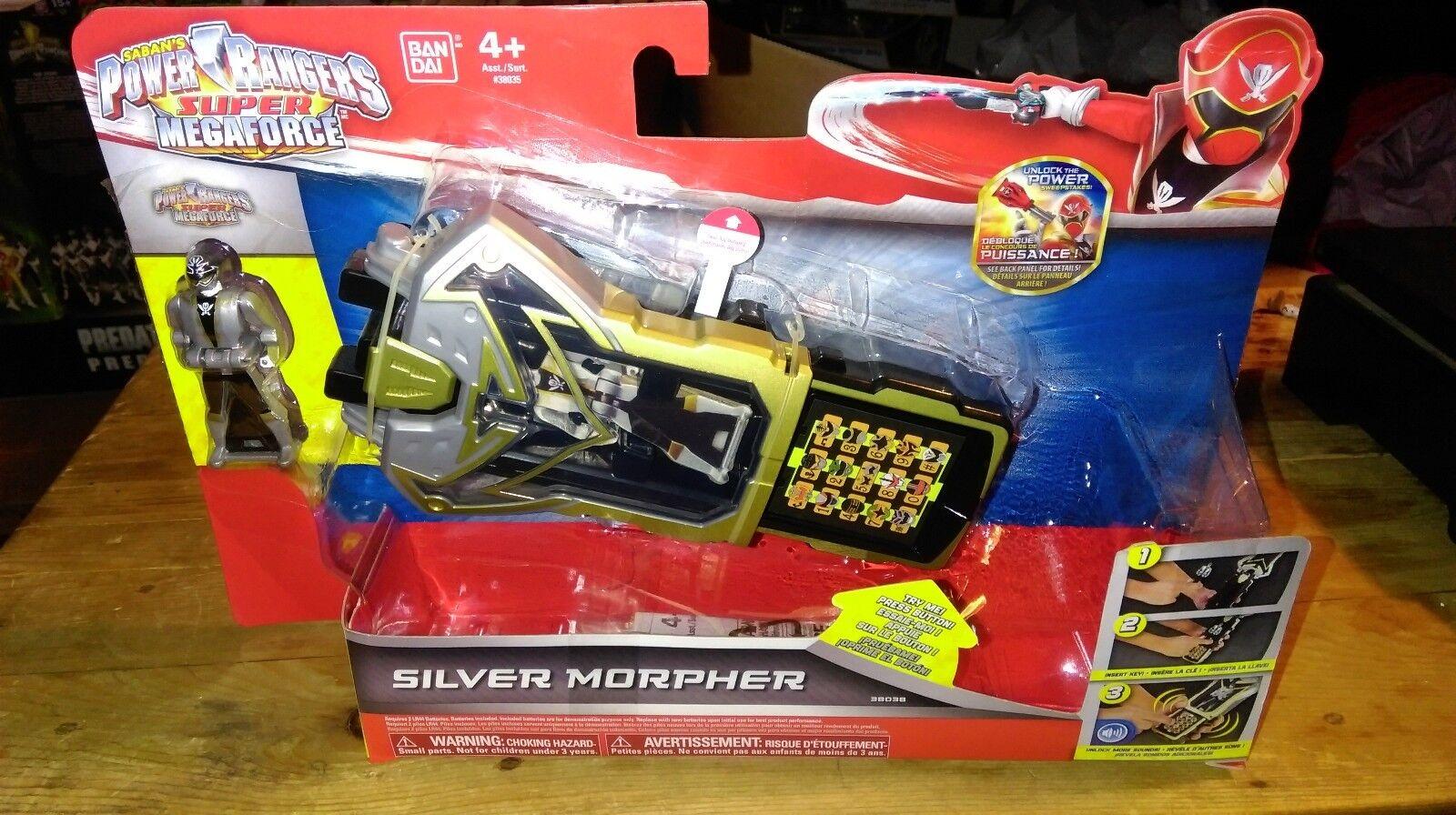 nueva gama alta exclusiva Power Rangers súper Megaforce Plata Plata Plata Ranger Morpher Nuevo  promociones de equipo