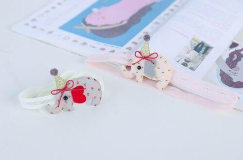 Baby Toddler Kids Children Cute Pink Elephant Headband Kids Hair Accessories