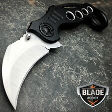"8"" Limited Edition Tactical Spring Assisted Open Karambit Folding Pocket Knife"