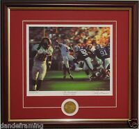 "Alabama football ""The Gamebreaker"" framed print & coin signed by Daniel Moore"