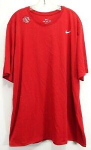 New-Nike-Mens-Dri-Fit-Red-Performance-Swoosh-Just-Do-It-Training-Shirt-2XL-TALL
