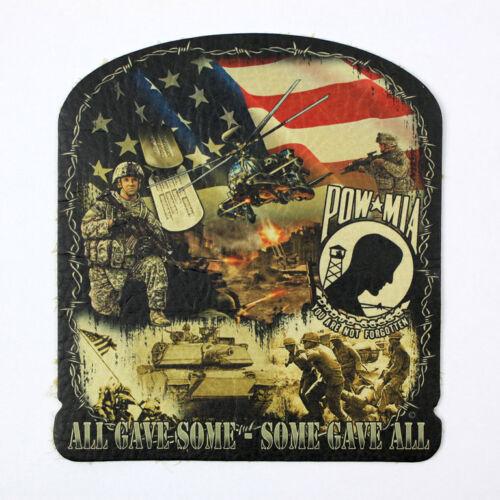 Biker Chopper pow mia History vétérans Army cuir veritable écusson Leather patch