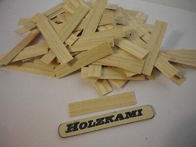 Holzleisten  Esche  50 Stück 500mm x 5mm x 0.6mm  L//B//H  Neu