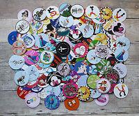 Pre-cut / Grab Bag Mixed/ Assorted / 1 Inch Circle Bottle Cap Images / 100-1000