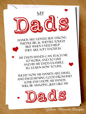 Christmas Card Dad Daddy Father Fathers Day Birthday Daughter Little Princess