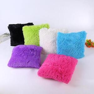 Schlaff-Flauschig-Kissenhuelle-Kissenbezug-Sofa-Taille-Dekokissen-Kissen-43-43cm