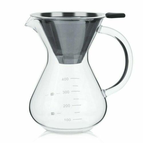 Diyeeni 400 ml Cafetière avec filtre permanent machine à café thermique-resista