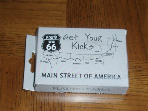 "ROUTE 66 PLAYING CARDS""GET YOUR KICKS""MAIN STREET OF AMERICA52 CARDS2 JOKERS"